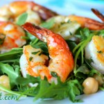 Shrimp and Arugula Salad with Chickpeas