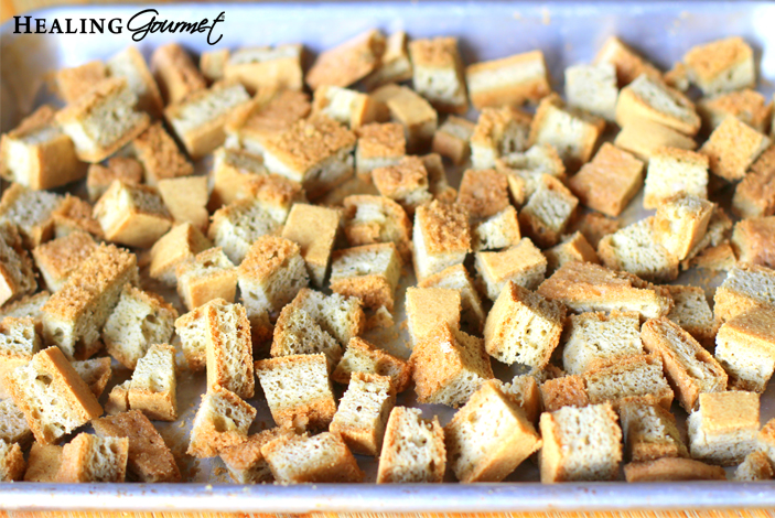 Image of Toasted bread for Paleo Meatball Recipe
