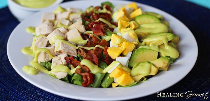 Easy Keto Paleo Cobb Salad Recipe