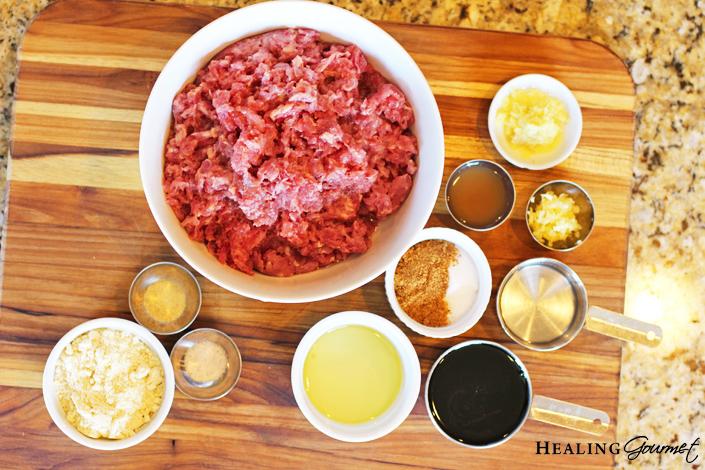 Teriyaki meatballs ingredients