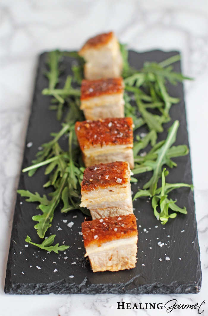 perfect pork belly recipe in 75% less time