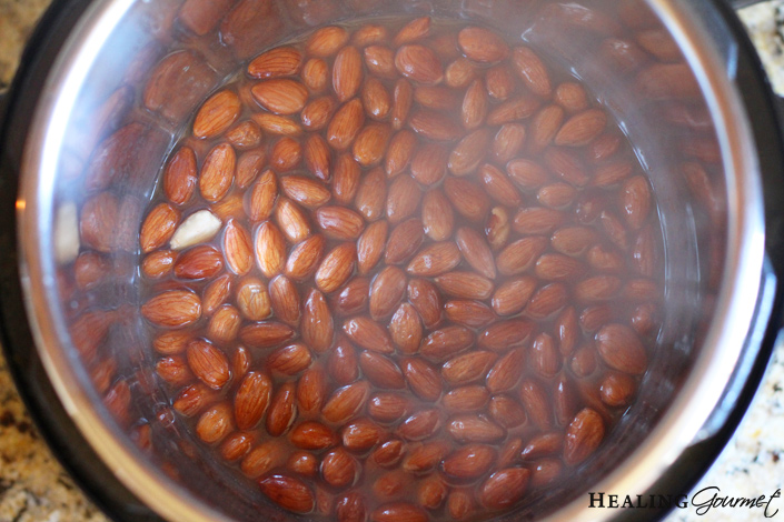 steamy almonds for almond milk