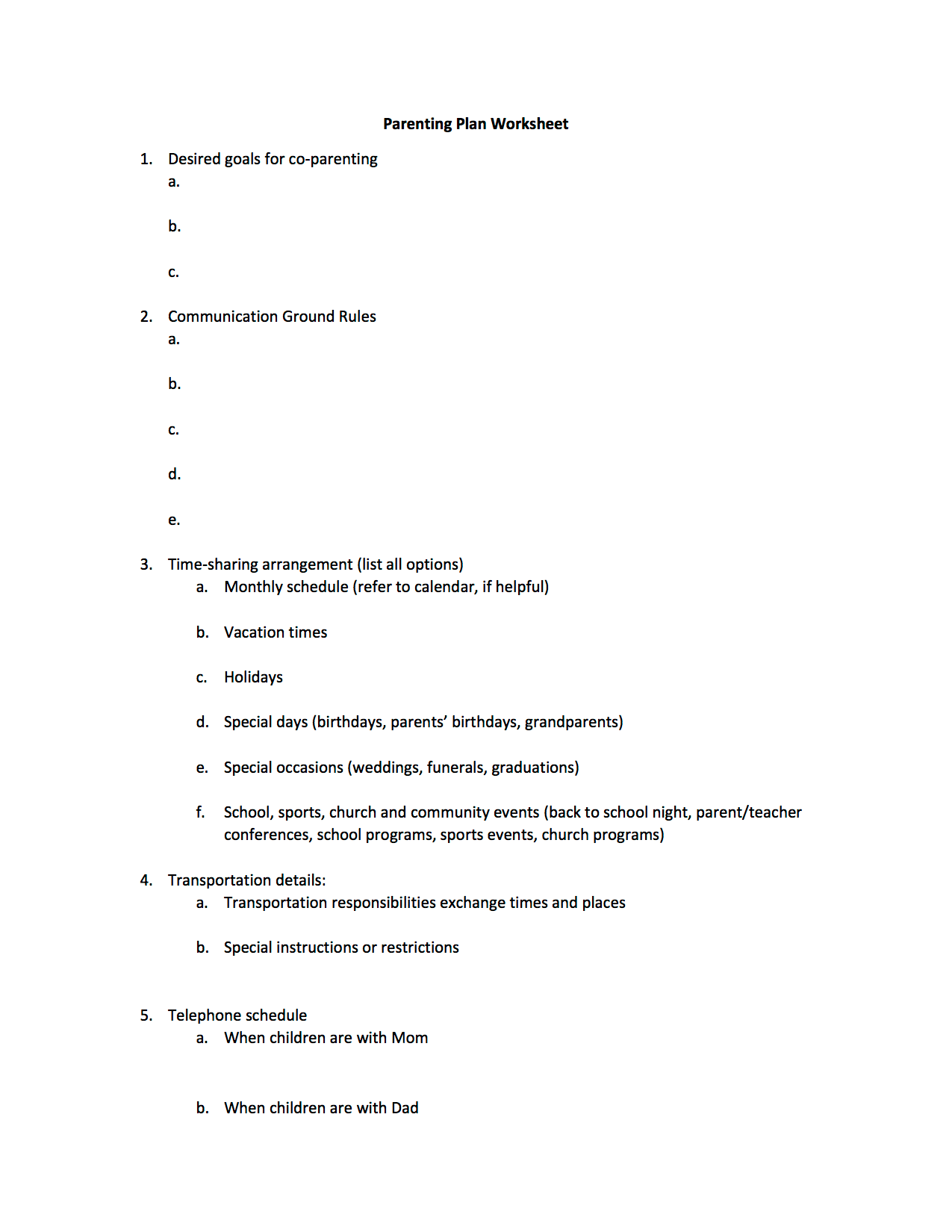 Massachusetts Child Support Guidelines Worksheet