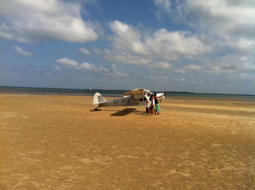 plane on a beach