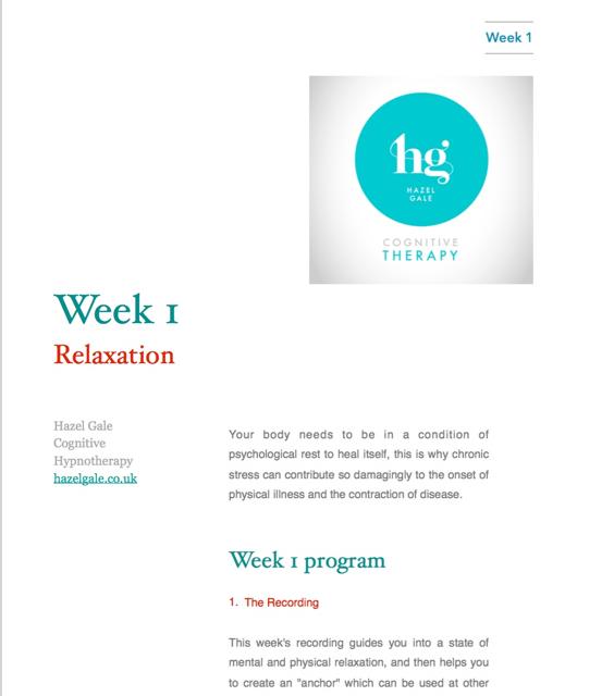 week 1 hypnotherapy course pdf