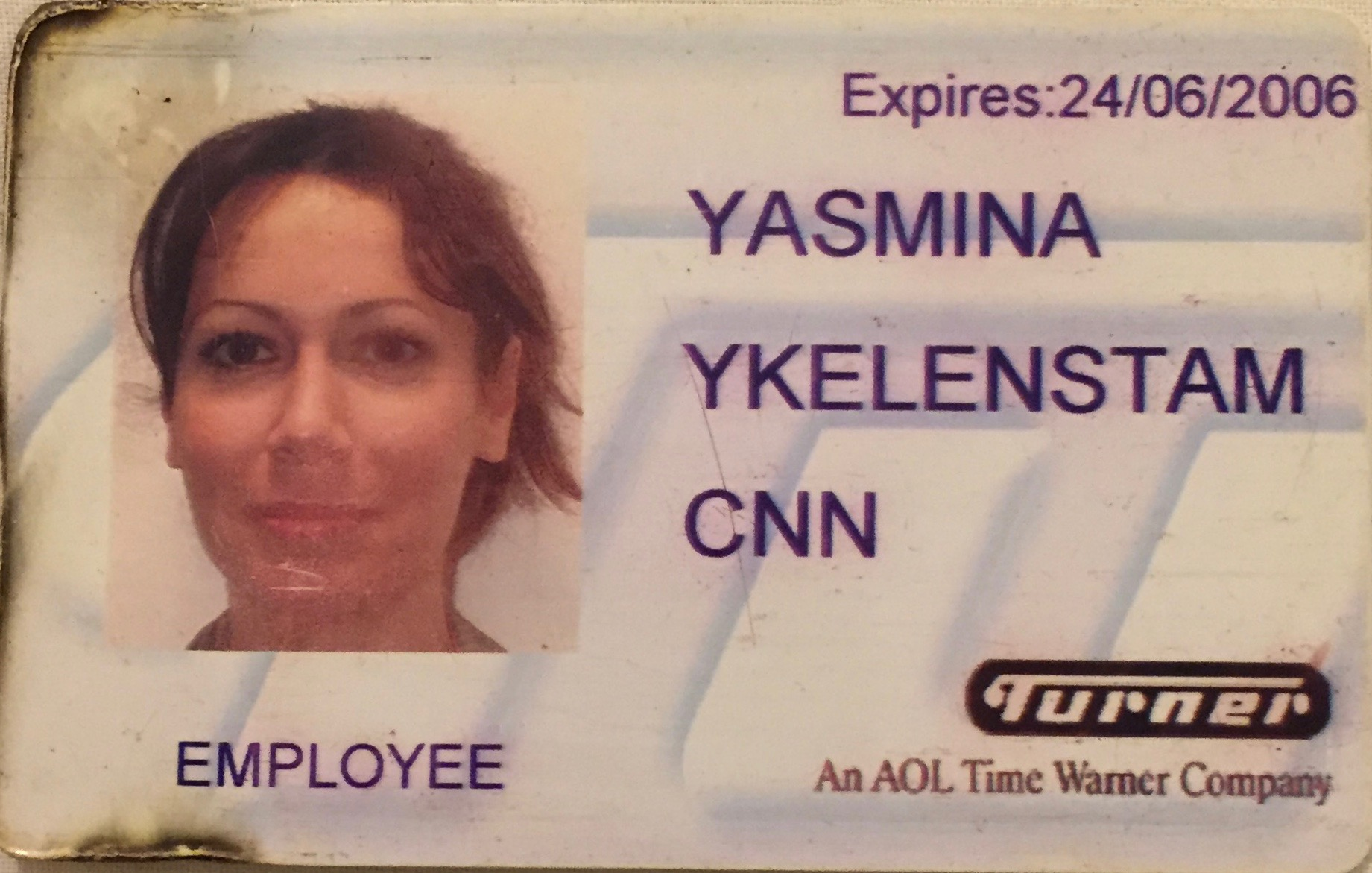My CNN London bureau press pass