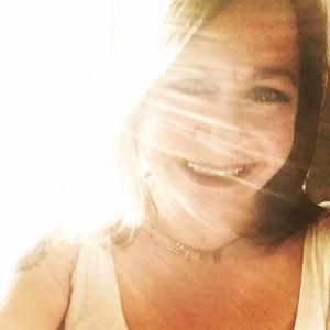 Gina with light shining