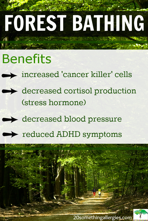 """""""[...] inhaling the chemicals phytoncide, a-pinene, and limonene released by evergreens, stimulate the activity of Natural Killer (NK) cells produced by the immune system to destroy cancer cells."""""""