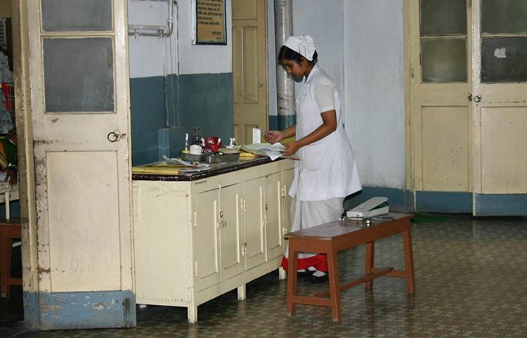 Ramakrishna Mission Seva Pratishthan nurse