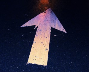 Arrow providing direction