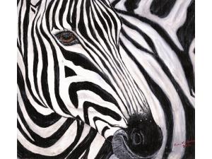 Zephyr the Zebra painting