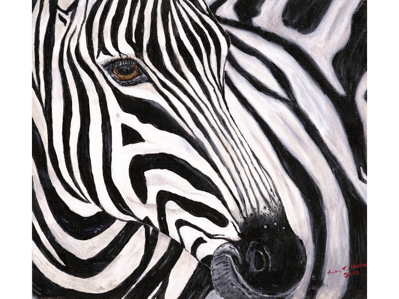 Zephyr the Zebra painting