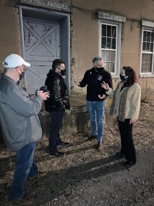 Filming of paranormal investigation