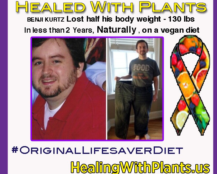 Man Lost Half His Body Weight, Naturally, on a Vegan Diet