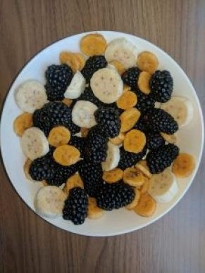 Blueberries and blackberries are excellent sources of anthocyanin.