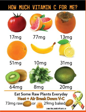 Vitamin C in whole plant foods