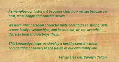 Family Tree Gal quote- value our history, on wood 400 x 210