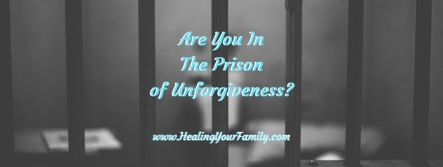 "Prison bar background to header that says, ""Are You In The Prison of Unforgiveness?"""