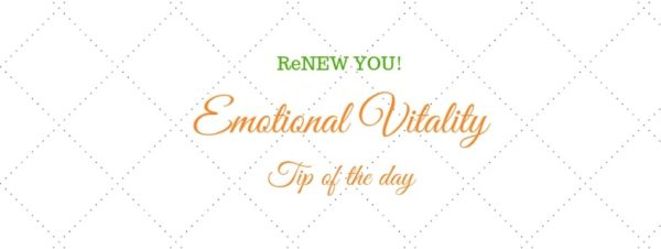 emotional vitality tip of the day on white tile-like background