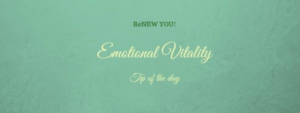 emotional vitality tip of the day on seafoam green background