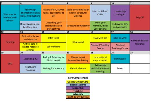 HEAL Bootcamp Schedule