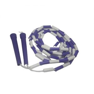 Beaded Skipping Ropes Purple and white