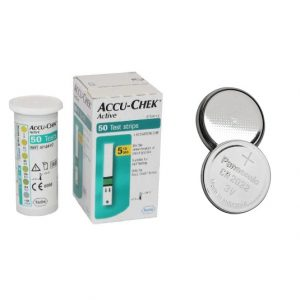Accu Chek Active Strips and Batteries