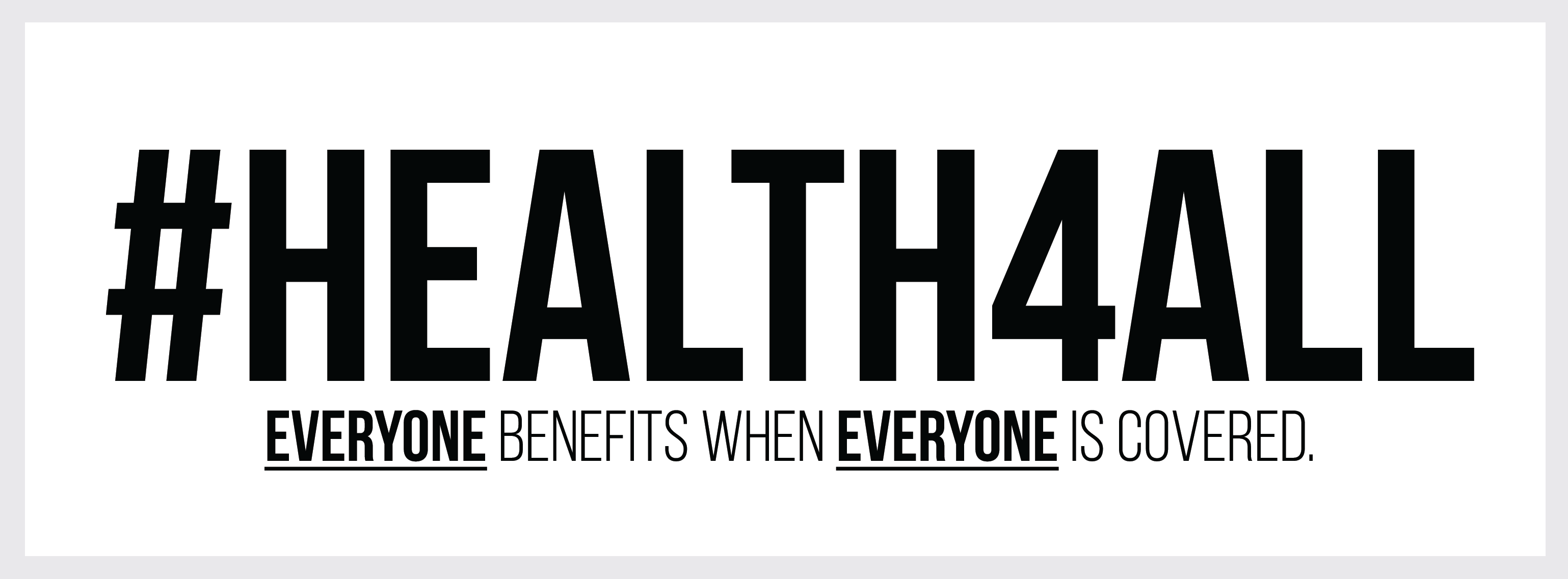 #Health4All
