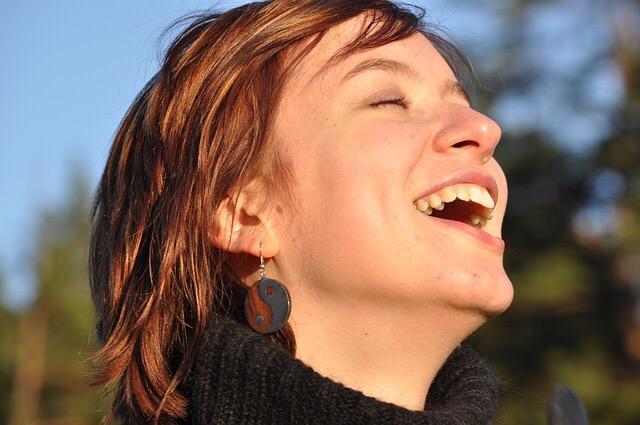 笑顔、輝く、自分