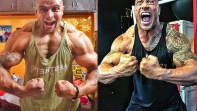 "Indian Bodybuilder Changed Look Made Him Look-alike The Jumanji Star ""Dwayne Johnson"""