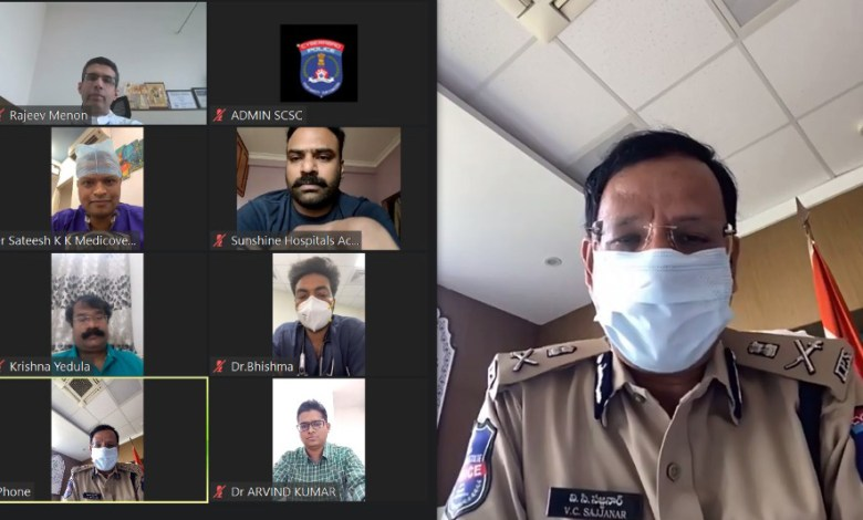 Cyberabad Police & SCSC Launches – COVID Telemedicine Consultation Call Centre Facility for Citizens of Hyderabad