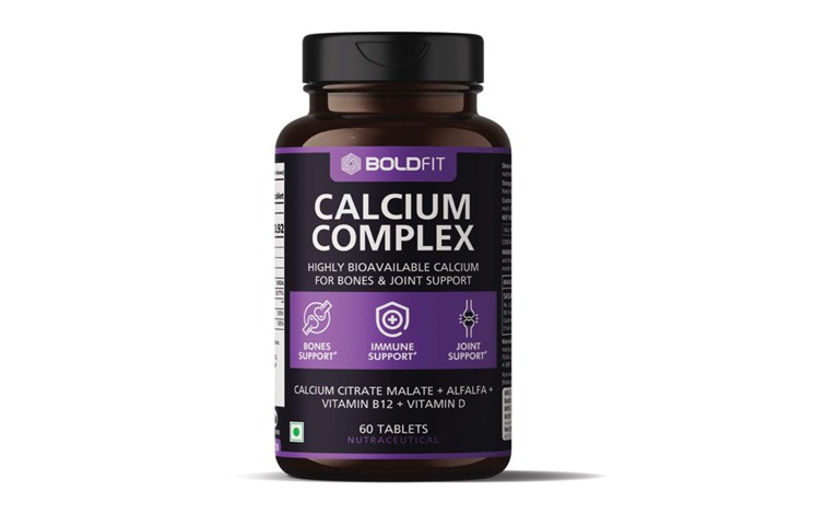 Boldfit calcium complex supplement 1000 mg with alfalfa for women and men