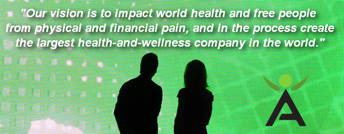 The Isagenix Vision is: To impact world health and free people from physical and financial pain, and in the process create the largest health and wellness company in the world