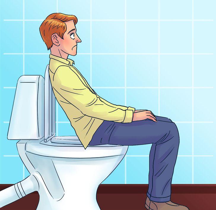 Sitting and leaning backward