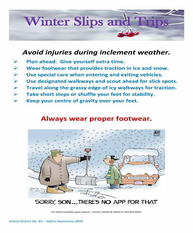 Winter Slips and Trips Poster
