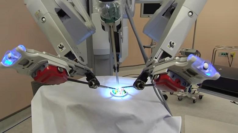 Robot performing surgery