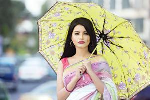 Model With Umbrella BD
