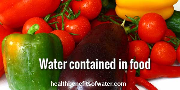 Water content of food