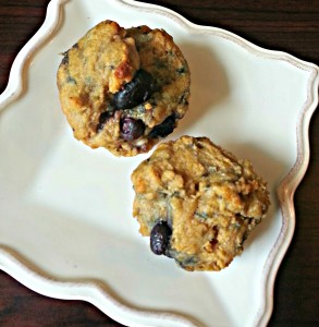 Blueberry lemon muffins 1