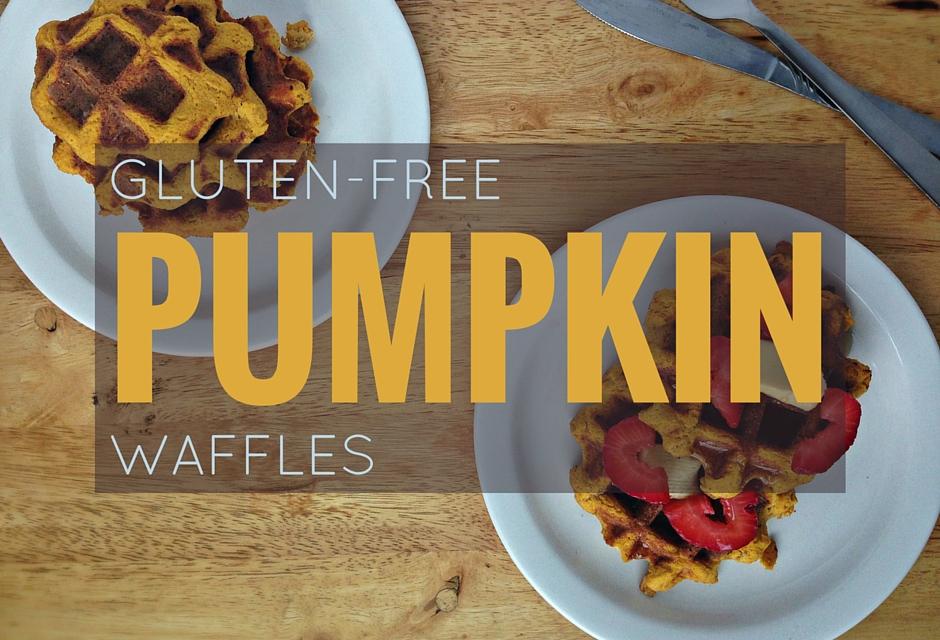 Gluten free pumpkin waffles, a yummy breakfast idea!
