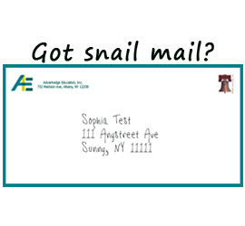 Snail mail? Picture of letter sent from Advantedge Education