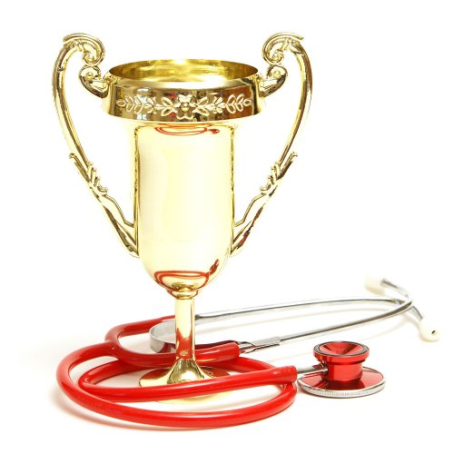 image of award with a red stethoscope