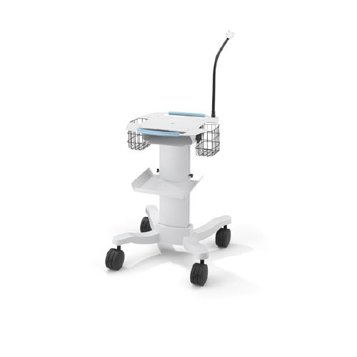 Electrocardiograph Roll Stand 28 W x 15 H x 38 D Inches White