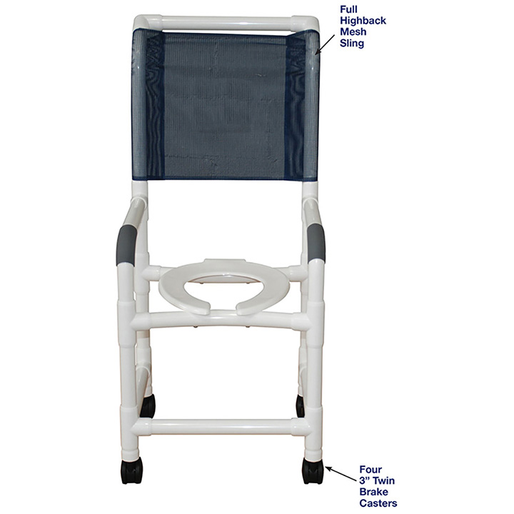 MJM HIGHBACK SHOWER CHAIR ADDITIONAL BACK SUPPORT in Michigan USA