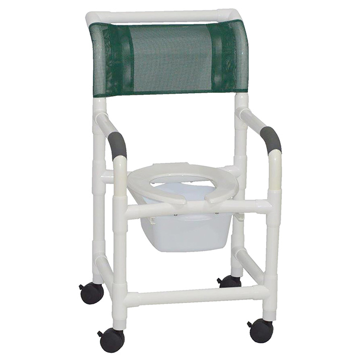 MJM SUPERIOR SHOWER CHAIR WITH SQUARE PAIL 118-3-SQ-PAIL in Michigan USA