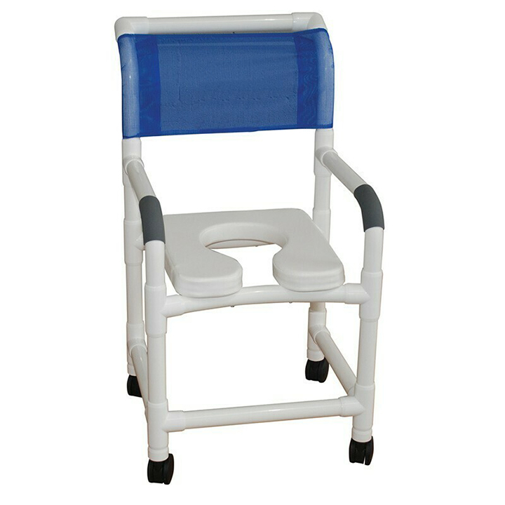"""MJM Shower Chair 18"""" - Open Front Soft Seat - 118-3TL-SSDE"""
