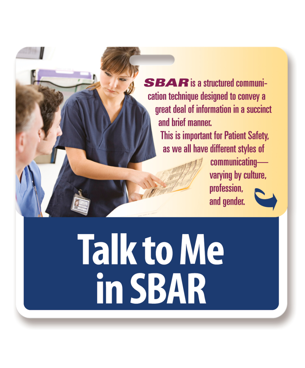 Of Sbar By Reminding Them With Our Unique Sbar Peek A Boo Card