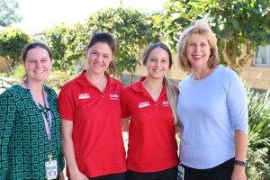 OT students at Toowoomba Hospital