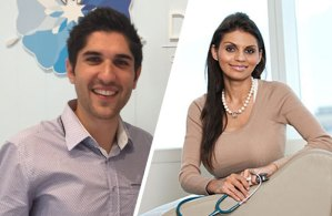 Indigenous graduates, dentist David Baker, and doctor Samara Toby