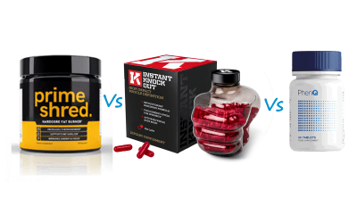 PrimeShred vs Instant Knockout vs PhenQ
